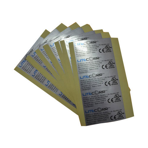 Silver foil stickers printing services