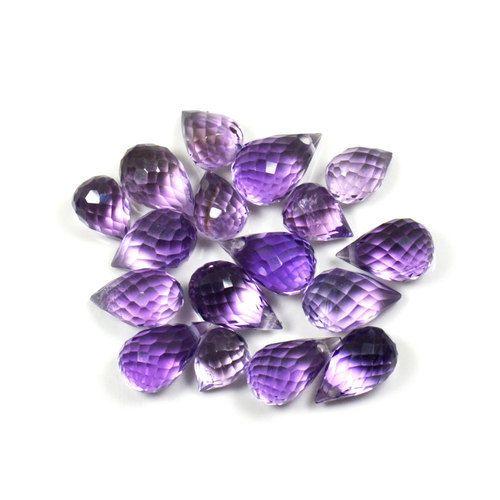 Natural Amethyst 25 Carat Loose Gemstone Lots 17 Pieces