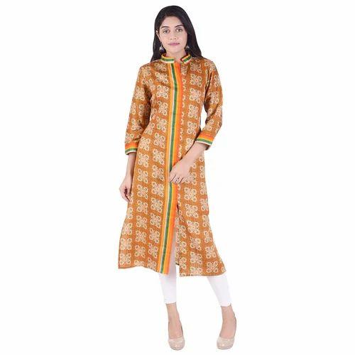 Lavanya Cotton Designer Printed Front Lining Kurti