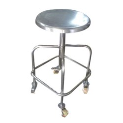 SS Wheel Stool