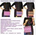 Mix Color Cotton Kutchi Traditional Embroidered Sling Bag