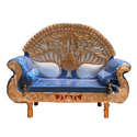 Wooden Wedding Antique Couch