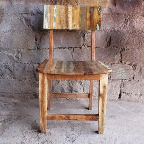 Cheaper Reclaimed/Recycle/Old Wood Dining Cafe Chair, Size/Dimension:  Standard