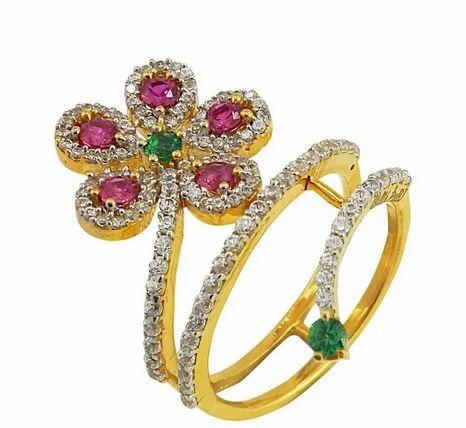 CZ Ruby Multicolor Ring