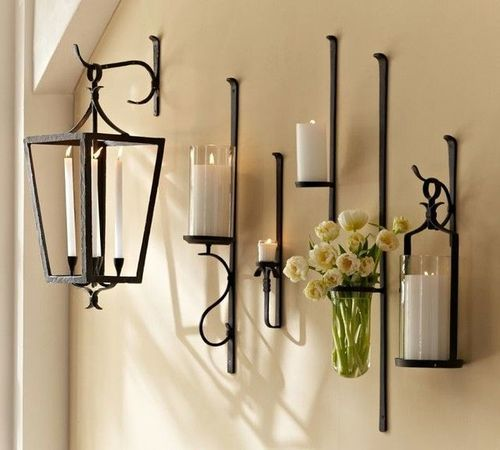 new style 0b400 a597b Wrought Iron Candle Wall Sconce, Model No: CH-09 | ID ...