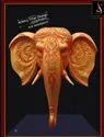 Fiber Elephant Head For Decoration, Size: 7 Feet