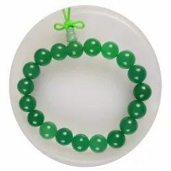 eshoppee Green Aventurine Stone Bracelet with guru Bead (Green guru Bead)
