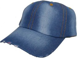 Jeans Light Blue Torn Cap