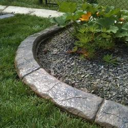 Grey Garden Cement Curbing, for Landscaping