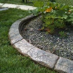 Garden Cement Curbing
