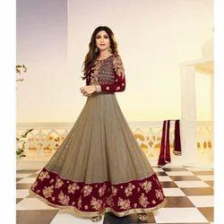 Full Sleeves Anarkali Suit