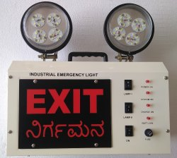 Industrial Emergency Light - LED Model 2 Exit