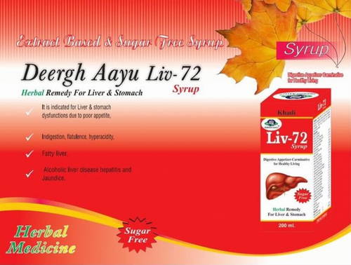 Herbal Medicines Deergh Aayu Liv 72 Syrup Wholesale Trader From