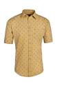 Yellow Printed Cotton Shirt, Size: S, M & L