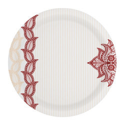 Marroon Petals Sonata Melamine Plate
