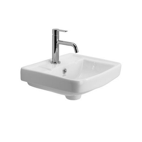 Bon White Wall Hung Wash Basins Without Pedestal