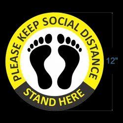 social distancing poster floor sticker