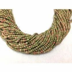 2 mm Unakite Bead