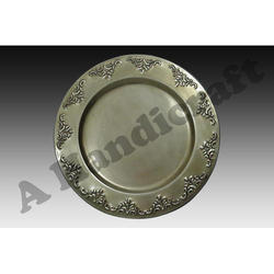 Brass Round Antique Charger Plate