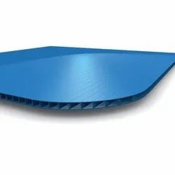 Blue PP Corrugated Sheet