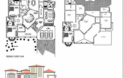 Floor Plans With Elevation And Section Design In Okhla Delhi Sdn Dreams Id 14728996788