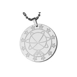Silver Toned MST Energy Pendant