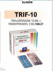 Trifluoperazine 10 mg & Trihexyphenidyl 2 mg Tablet