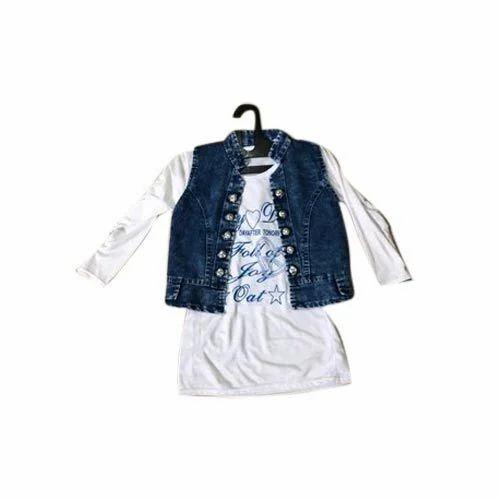 0ce2c4844eb Livanshi Fashion Blue Girls Casual Denim Jacket