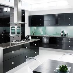 Classic Black Acrylic Kitchen Cabinet Rs 1000 Squarefeet Easa Cafe Id 15281405730