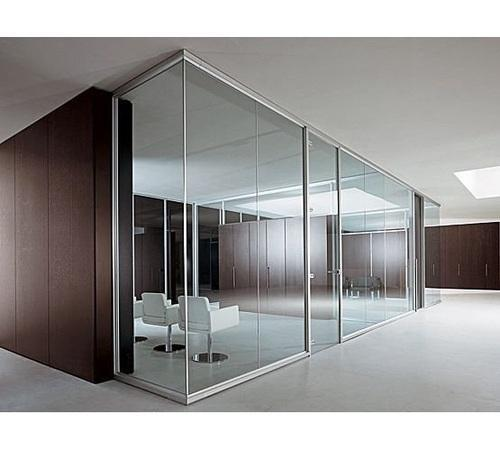 Plain, Printed Framed Office Glass Partition, Rs 180 /square feet ...