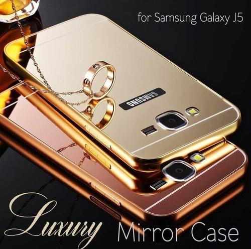 timeless design bd098 6337f Goldmirror Back Cover With Bumper For Samsung Galaxy J7 2015