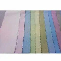 Plain 45-52 Polyester Cotton Shirt Fabric, For Shirts, GSM: 100-150 GSM