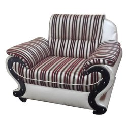 Plywood 1 Designer Single Seater Sofa, For Home, Hall