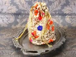 Gold Beaded Pouch