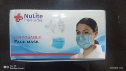 Nulite 3 Ply Face Mask Ultrasonic Fully Automated (1 box - 50 Piece), Production Capacity: Immediate, RB3Ply