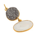 Gemstone Gold Plated Pretty Hot Milky & Lemon Topazio Gemstone Handmade Bezel Pendant