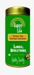 Happy Life Herbal Tulsi Green Tea, Packaging Size: 100g, Packaging Type: Jar