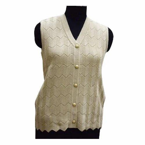 6f99b5be9dbfc5 Sleeveless Woolen Cardigan