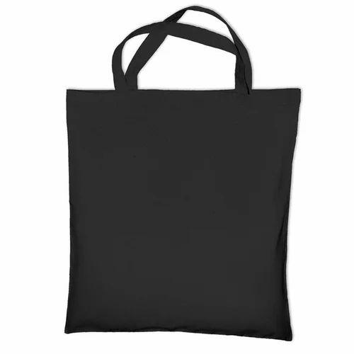 Plain Black Cotton Bag e2402c153aa5