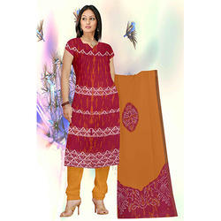 Bandhej Fancy Red Suit