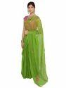 Green Bridal Wear Chiffon Saree
