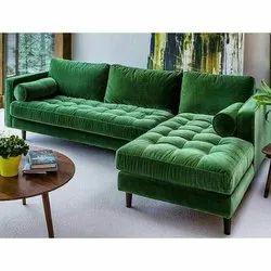Green L Shape Sofa Set