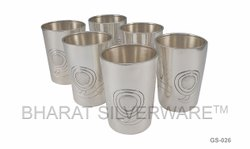 Pure Silver Fancy Glass Set