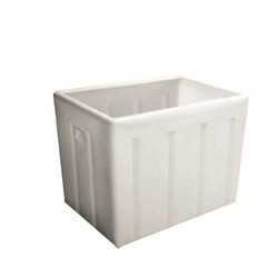 White Rectangular Roto Crates