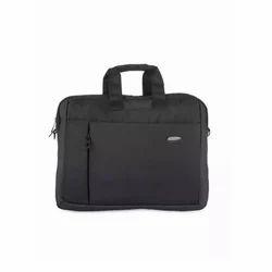Rexine Black Laptop Bag