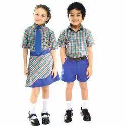 棉花夏季学校的孩子制服织物