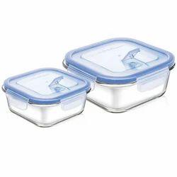 310ml 530ml Square Container Set