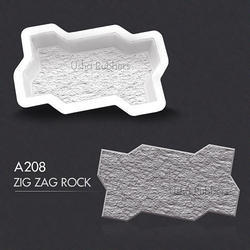 A 208 Zigzag Rock Mould