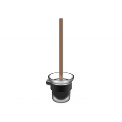 Colston Glass and Metal WC Brush Holder