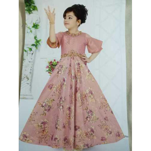 db01214150d9c Cotton Party Wear Kids Long Gown, Size: Small, Rs 895 /piece | ID ...